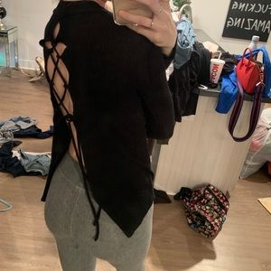 OPEN BACK SWEATER SIZE SMALL